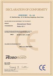 Chứng nhận CE cho Robo Kit