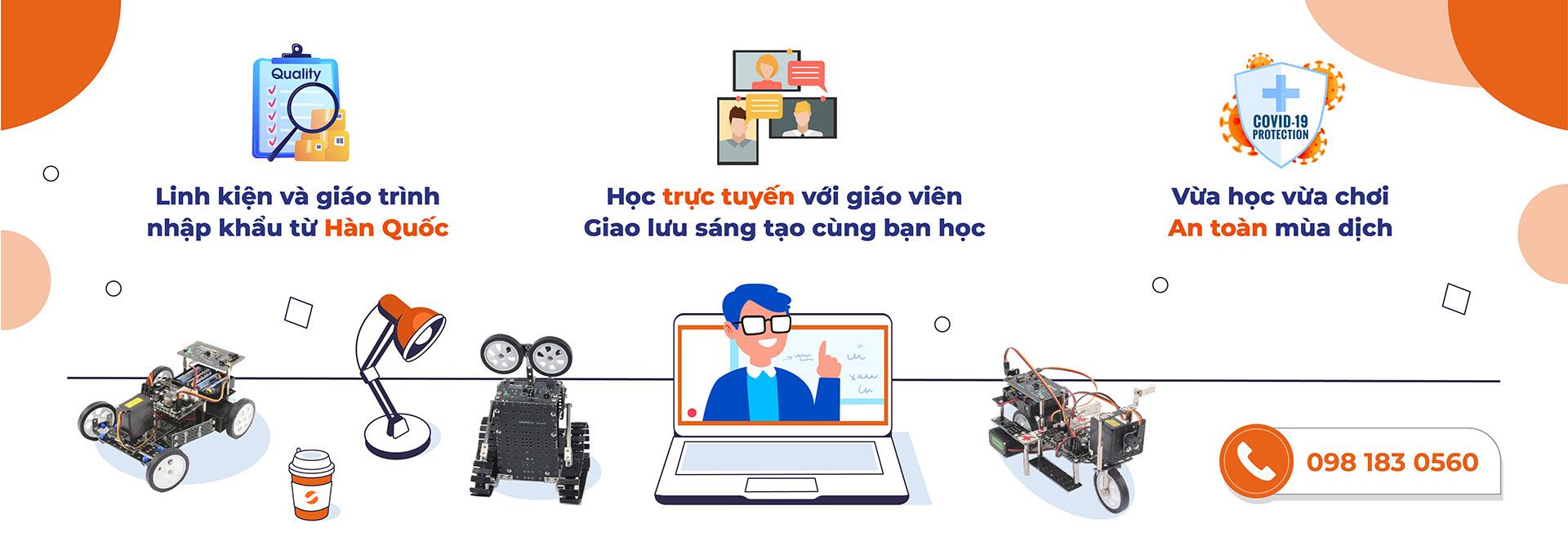 Lớp học robot thông minh stem online 1