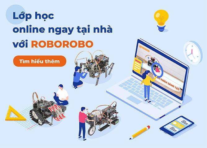 Lớp học robot thông minh stem online 2